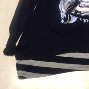 Justice Shirts & Tops - Girls long sleeve owl print shirt